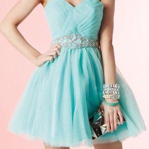 Alyce Paris Short Sweetheart Strapless Dress Sz 2